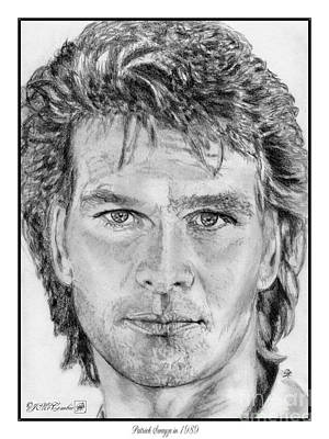 Drawing - Patrick Swayze In 1989 by J McCombie