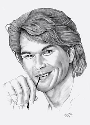 Drawing - Patrick Swayze by Patricia Hiltz