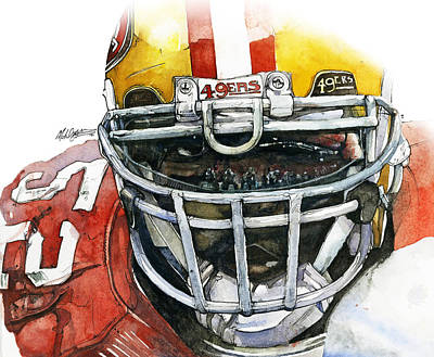 Patrick Willis - Force Art Print by Michael  Pattison