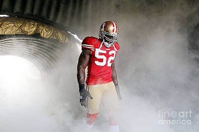 Patrick Willis Art Print by Marvin Blaine