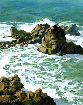 Patricks Point Rocks Print by Alice Leggett