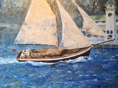 Patriot At Catalina Lighthouse Art Print