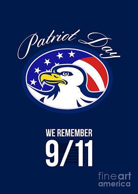 Remember Digital Art - Patriot Day We Remember 911 Poster Card by Aloysius Patrimonio