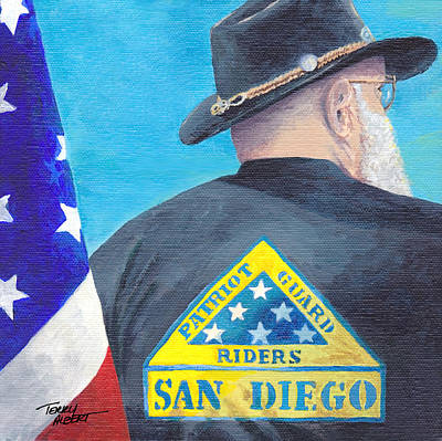 Painting - Patriot Guard by Terry Albert