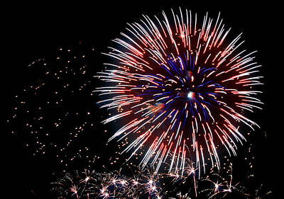 Fireworks Photograph - Patriot by Lester Phipps