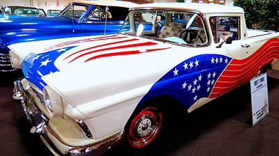 Photograph - Patriotic 1957 Ford Ranchero by Kay Novy