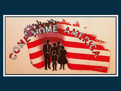Painting - Patriotic America Greeting Card by Michael Shone SR