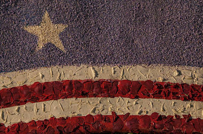 Photograph - Patriotic Background Horizontal by Connie Cooper-Edwards