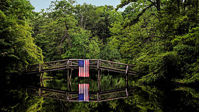 Patriotic Bridge Art Print