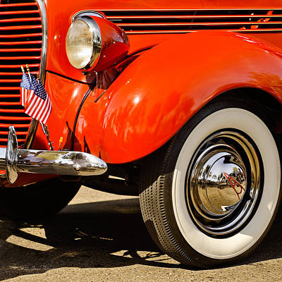 Photograph - Patriotic Car by Jim Thompson