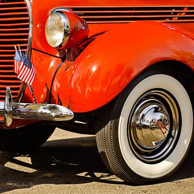 Rose - Patriotic Car by Jim Thompson