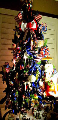 Photograph - Patriotic Christmas Tree by Randall Weidner