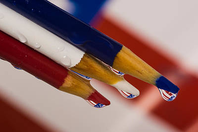 Drippy Photograph - Patriotic Drops by Alissa Beth Photography