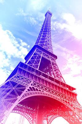 Photograph - Patriotic Eiffel Tower by Olivier Le Queinec