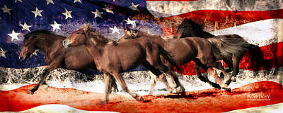Patriotic Freedom Run Art Print