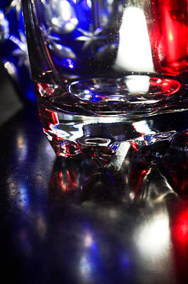 Photograph - Patriotic Glass by Adria Trail