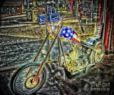 Patriotic Hog Original by Arnie Goldstein