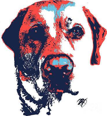 Labrador Digital Art - Patriotic Labrador by Rachel Barrett