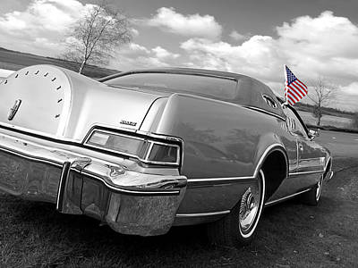 Independance Day Photograph - Patriotic Lincoln Continental 1976 by Gill Billington