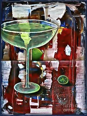 Mixed Media - Patriotic Margarita by Walt Foegelle