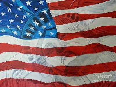 4th July Painting - Patriotic by Michelley Fletcher