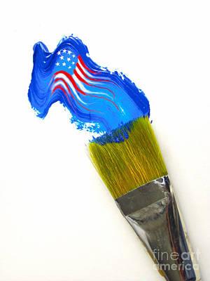 Patriotic Paint Art Print by Diane Diederich