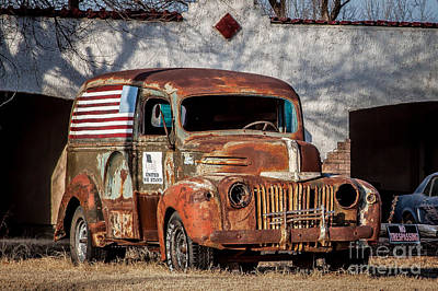 Photograph - Patriotic Panel Wagon by Jim McCain