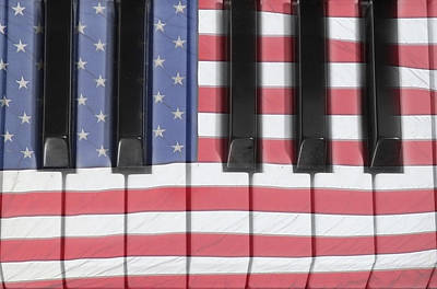 Photograph - Patriotic Piano Keyboard Octave by James BO  Insogna
