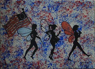 Patriotic Pixie Fairy Art Print by Tim Casner