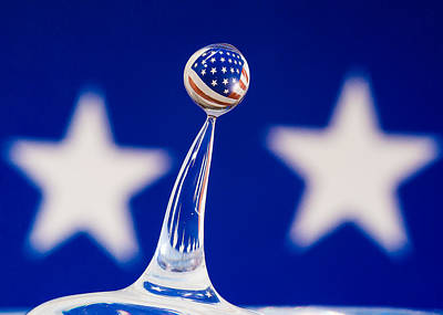 Drippy Photograph - Patriotic Pop by Alissa Beth Photography