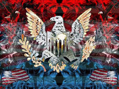 Digital Art - Patriotic Pride by Asegia