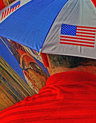 Photograph - Patriotic Reflection by Jeff Stallard