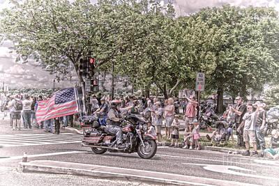 Patriotic Ride Art Print by Tom Gari Gallery-Three-Photography