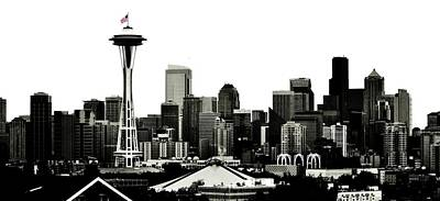 Photograph - Patriotic Seattle by Benjamin Yeager