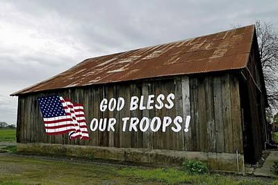 Patriotic Sign Vintage Barn Original by Pamela Patch