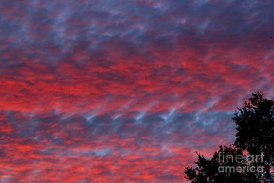 Photograph - Patriotic Sky At Sunset by Geri Glavis