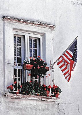 Photograph - Patriotic Window by David and Carol Kelly
