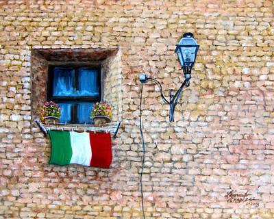 Patriotic Window Art Print by Leonardo Ruggieri