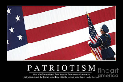 Photograph - Patriotism Inspirational Quote by Stocktrek Images