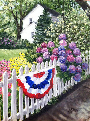 Painting - Patriotism On Court Street by Margie Perry