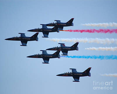 Photograph - Patriots 6 Plane Formation by Debra Thompson