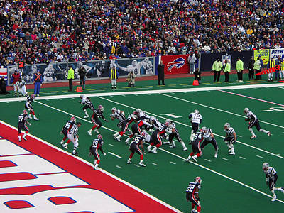 Photograph - Patriots About To Score by Mike Martin
