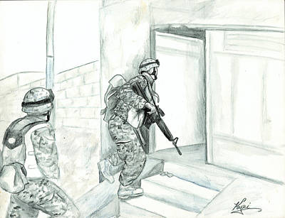 Iraq Painting - Patrol by Annette Redman