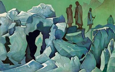 Patrol Painting - Patrol Of Himalayas by Nicholas Roerich