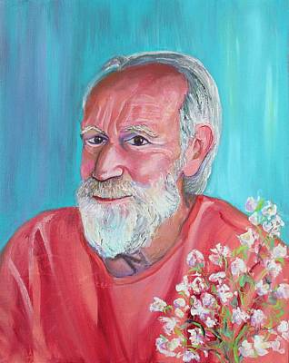 Popstar And Musician Paintings - Patron Saint of Artists and Gardeners by Asha Carolyn Young