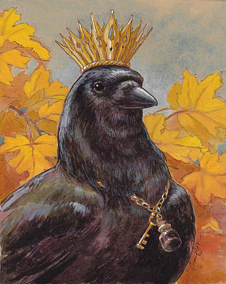 Corvid Painting - Patron Saint Of Storytellers by Tracie Thompson