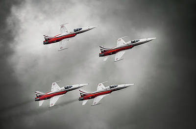 Military Aircraft Wall Art - Photograph - Patrouille Suisse by Leon