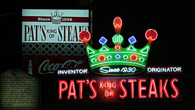Pat's King Of Steaks Art Print by Stephen Stookey
