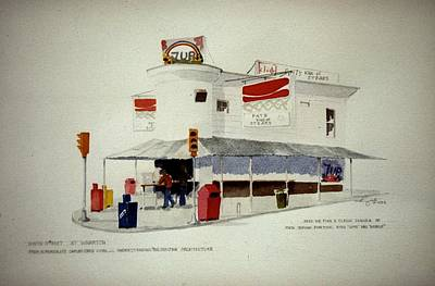 Pat's Steaks Art Print