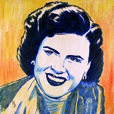 Painting - Patsy Cline Pop Art Painting by Bob Baker